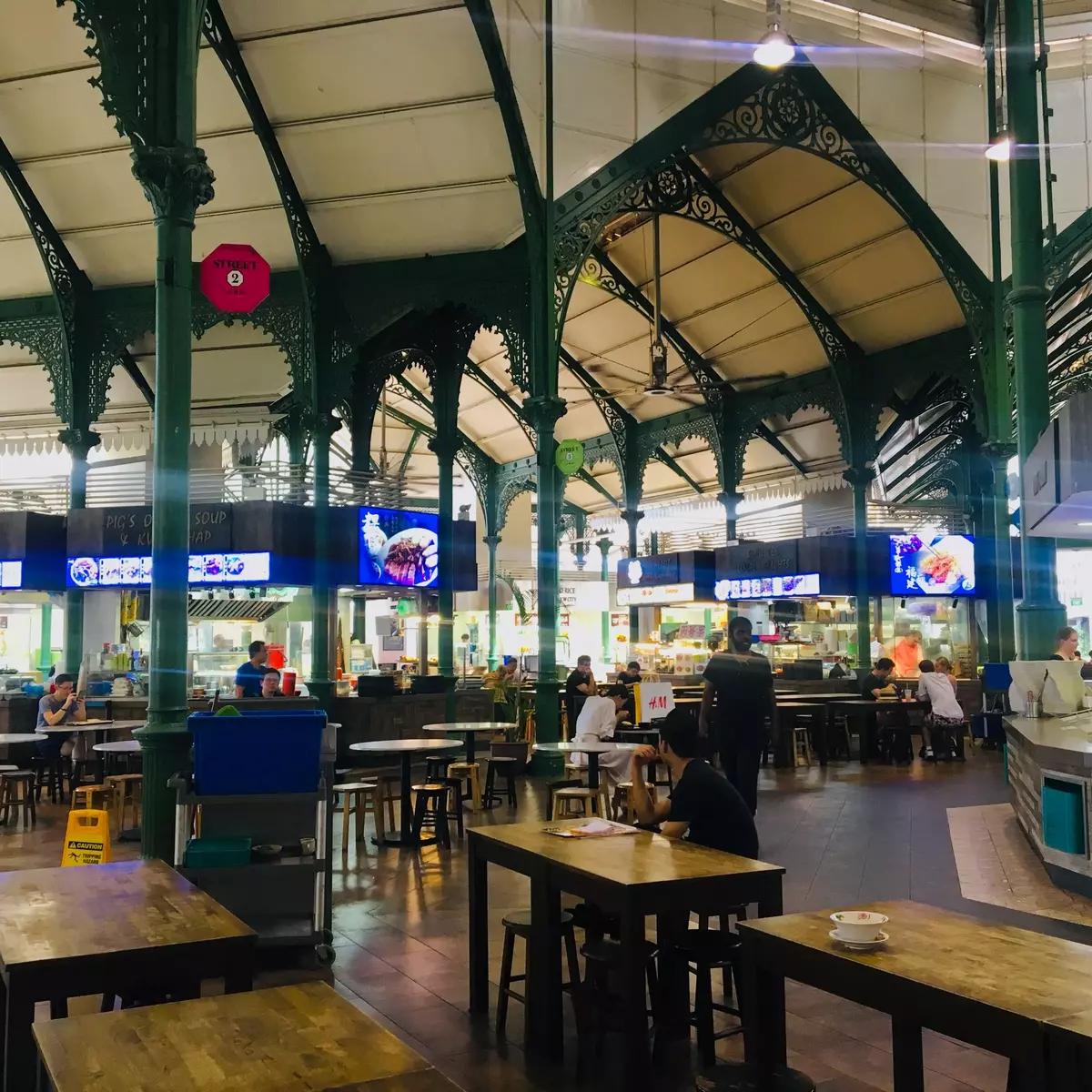 Food court à singapour