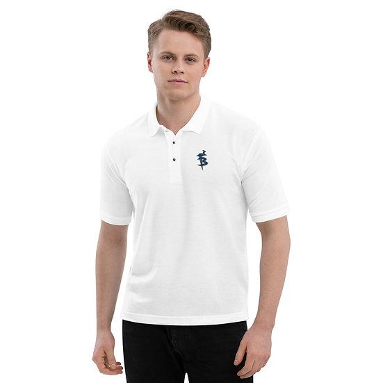 FB Logo Polo White