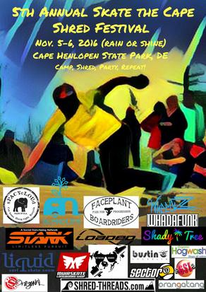 5th Annual Skate the Cape Shred Festival Press Release