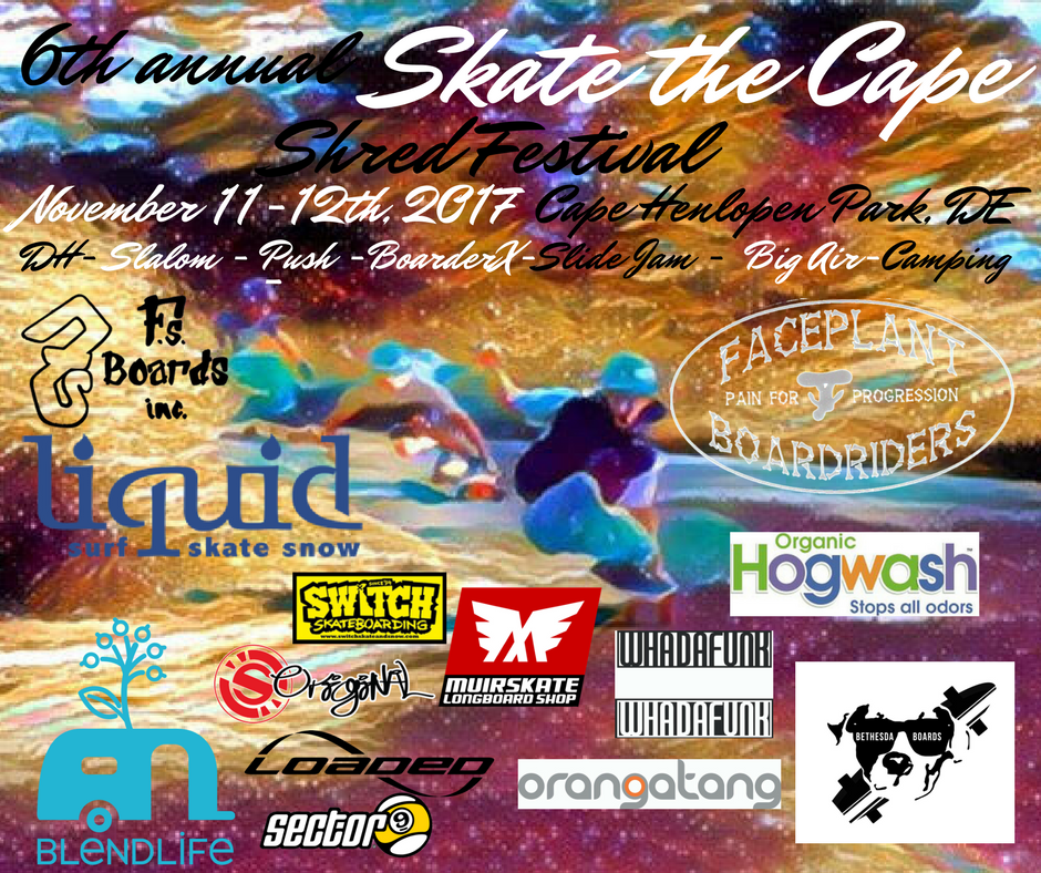 Skate the Cape 2017 Event Poster