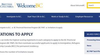 把握機會! 加拿大BCPNP移民計劃取錄分數創2年半新低!