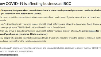 加拿大邊境管制更新:工簽、部分學簽及未啟動嘅永居允許入境
