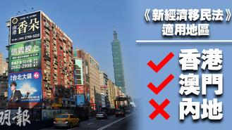 台灣推新移民法案 港澳人士低價移民或成歷史