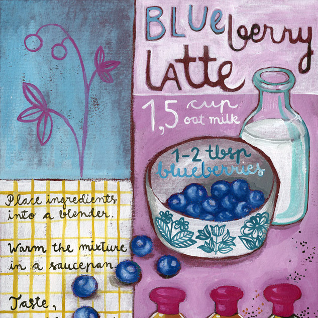 Blueberry Latte