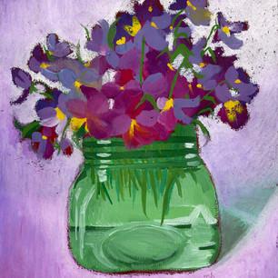 Violets In a Jar