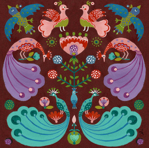 Folk Birds Pattern