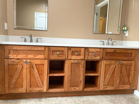 "Custom Design Highlight: 92"" Master Vanity"