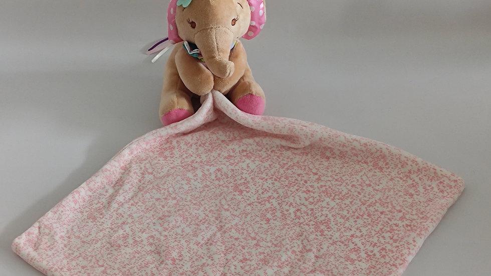 Kuscheltuch Elefant rosa