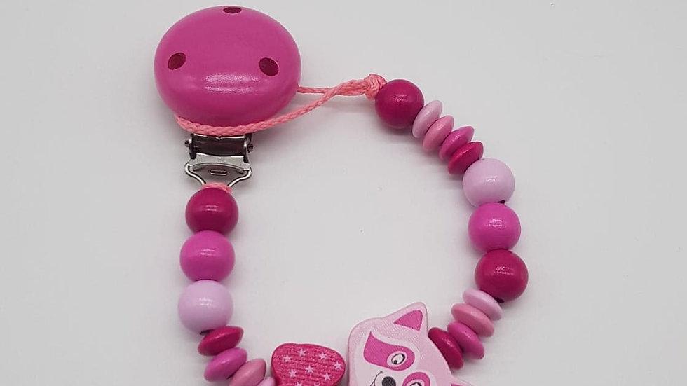 """Nuggikette """"Waschbär"""" pink"""