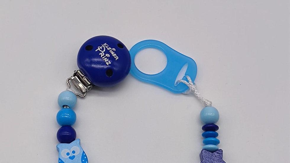 """Nuggikette blau """"Eule"""""""