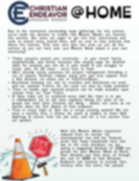 Mission Weeks @ Home Informational Flyer