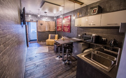 Butty Lounge and kitchen