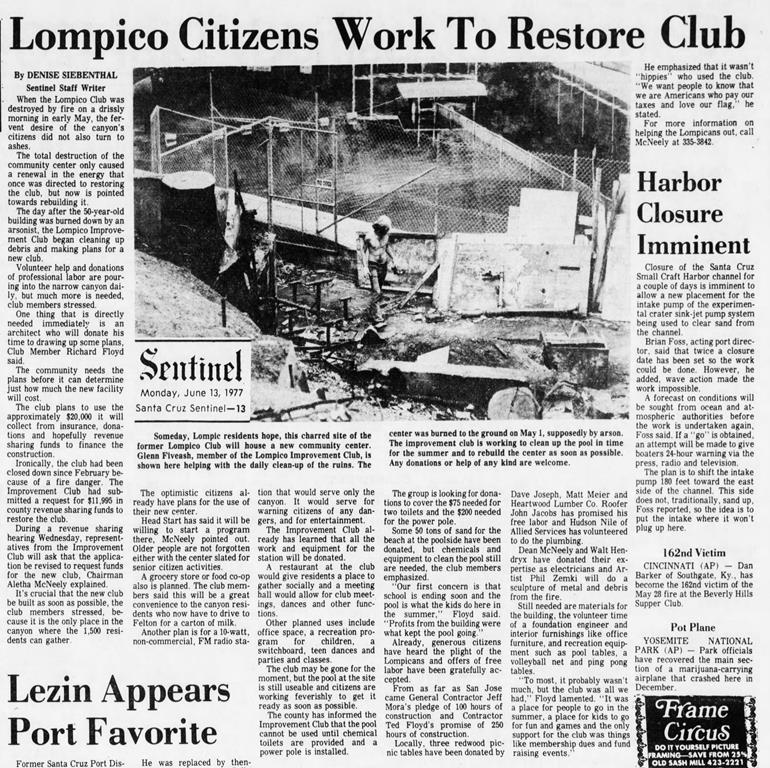 Lompico Citizens Work to Restore Club_19
