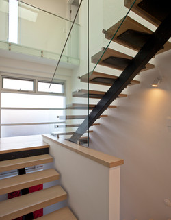 steel and hardwood stair