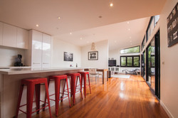 light filled rear living areas