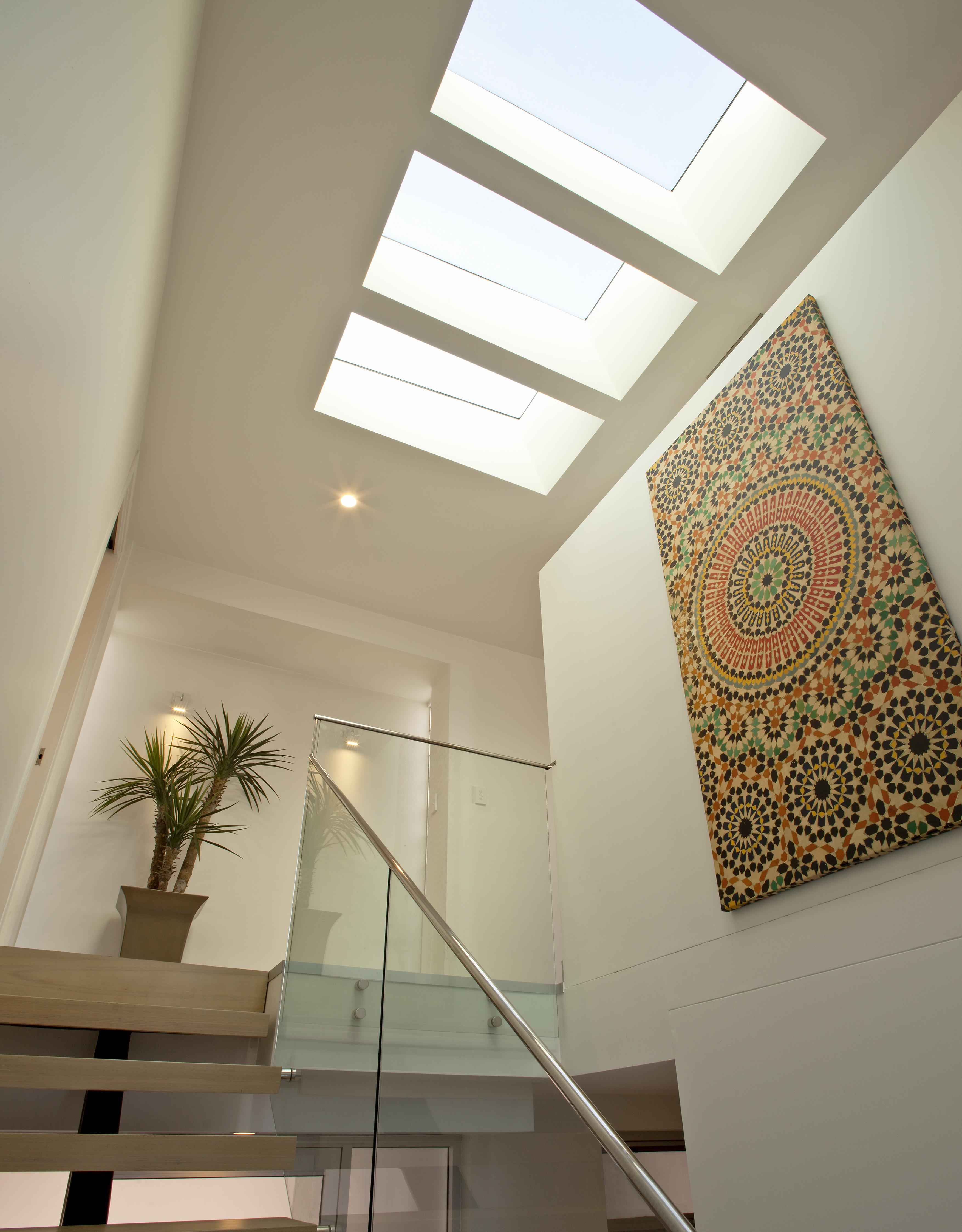 skylight in stairwell
