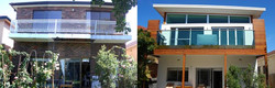 rear facade - before and after