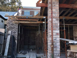 Work progressing well on new dwelling in Marrickville