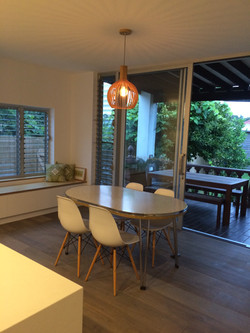 new dining area opening to deck