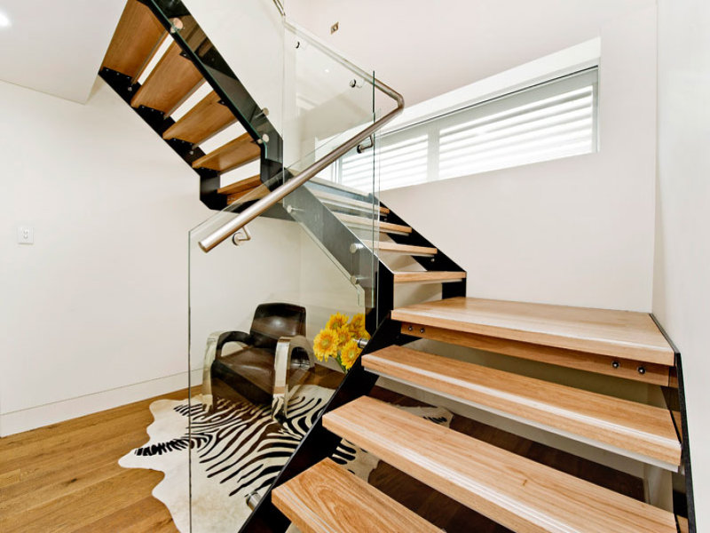 new steel and timber stair