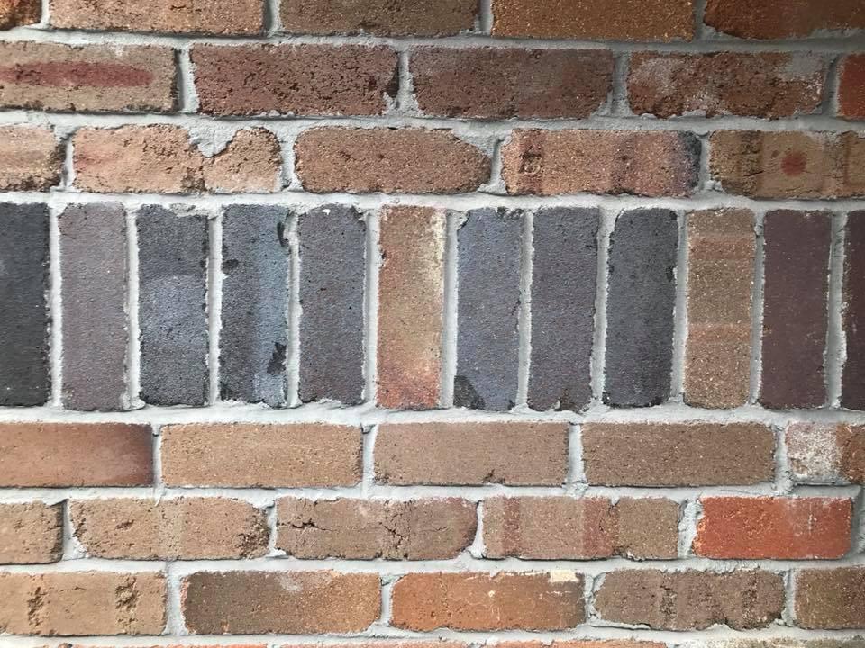 recycled brick facade