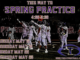 Spring practice starts in one month