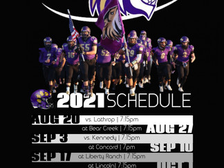 Tigers release 2021 fall schedule