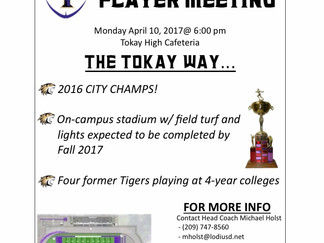 Join us for our Annual Parent/Player Meeting