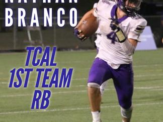 Branco earns high TCAL honors
