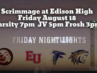 Scrimmages moved to Friday night