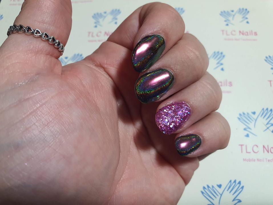 Suki Chrome & Camellia Glitter - Magpie