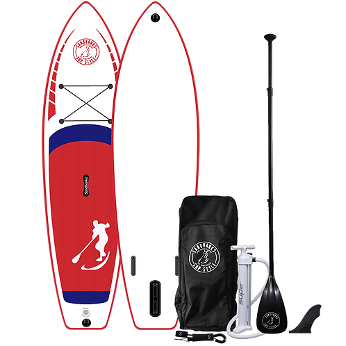 Sandbanks Style 'ULTIMATE' Red: 10'6'' x 32'' x 6'' Inflatable SUP Package