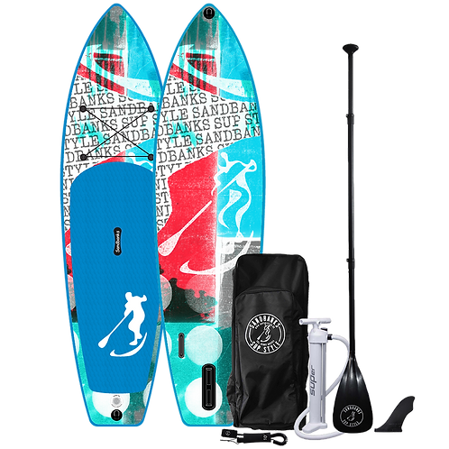 Sandbanks Style 'ULTIMATE' Reef: 10'6'' x 32'' x 6'' Inflatable SUP Package