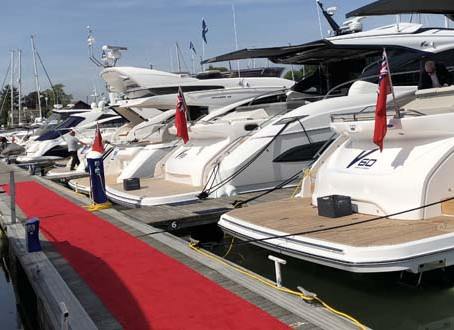 The British Motor Yacht Show. 17 - 19 May 2019.  At Premier Marina, Swanwick, Southampton SO31 1ZL