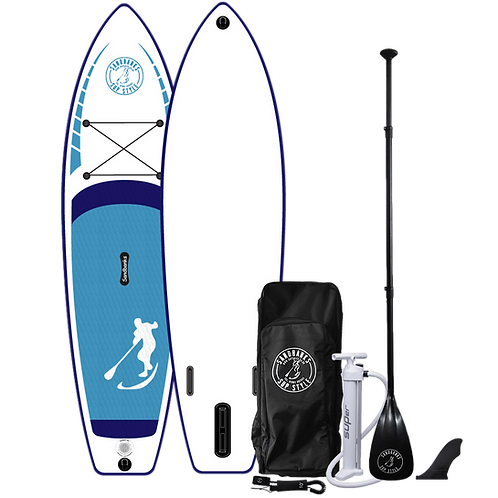 Sandbanks Style 'ULTIMATE' Blue: 10'6'' x 32'' x 6'' Inflatable SUP Package
