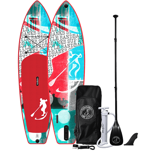 Sandbanks Style - 'CRUISER' Reef: 11' x 34'' x 6''Inflatable SUP Package