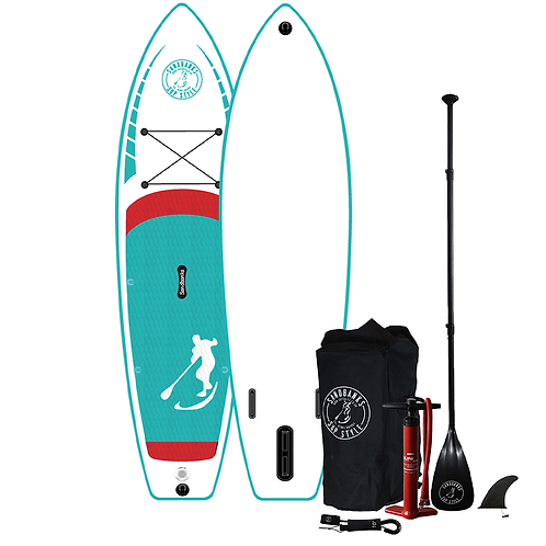 Sandbanks Stye ELITE (Turquoise) 10'4'' x 32'' x 4.75'' Inflatable SUP Package