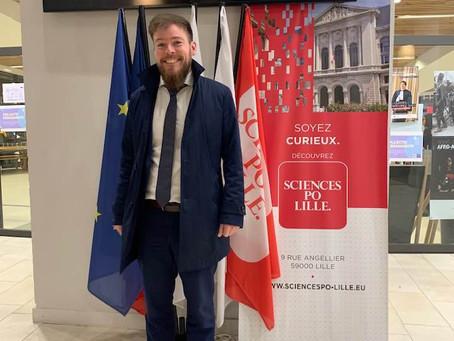 """Conférence à Sciences Po Lille sur le sujet """"faut-il envahir l'Allemagne"""", le 10 mars 2020"""