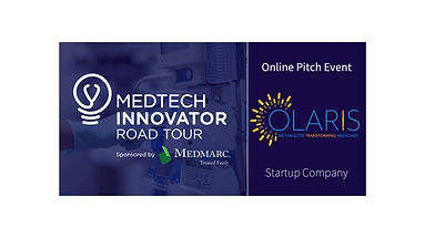 Olaris selected to particpate in the MedTech Innovator Online Pitch event