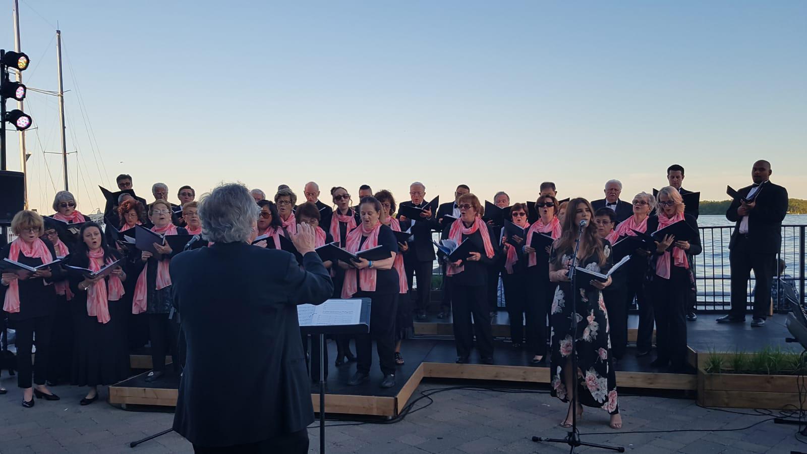 Coro San Marco performing at the Luminat