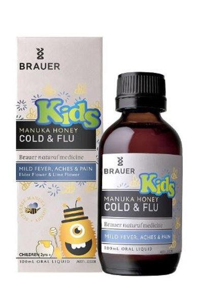 Brauer Kids' Manuka Honey Cold & Flu| 100mL