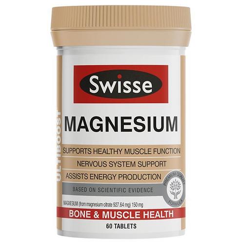 Swisse Ultiboost Magnesium| 60 Tablets