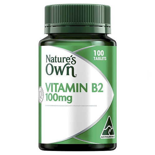 Nature's Own Vitamin B2 100mg| 100 Tablets