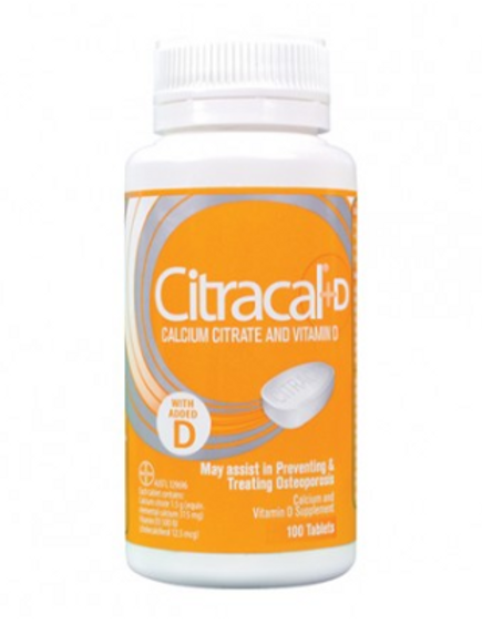 Citracal+D Calcium Citrate+Vitamin D| 100 Tablets