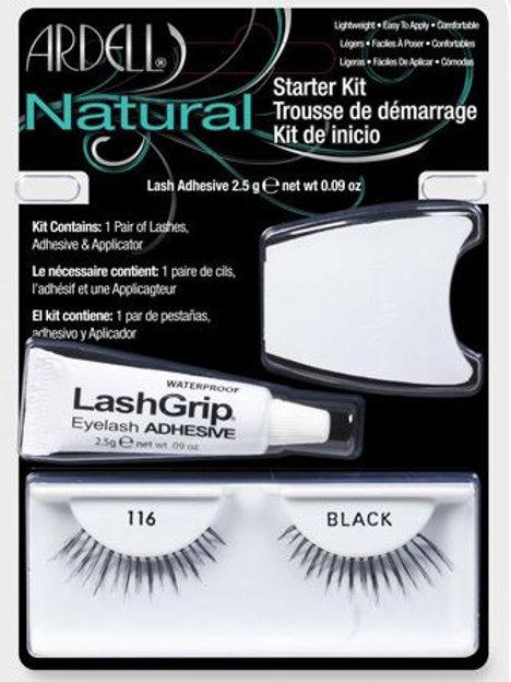 Ardell Natural Lashes| 116 Black Starter Kit