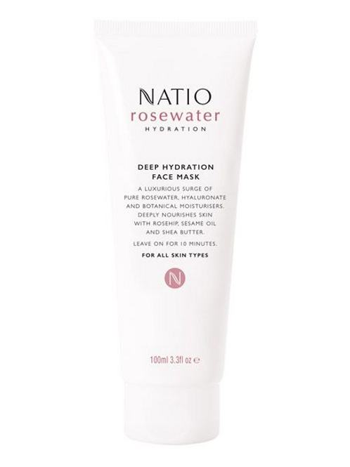 Natio Rosewater Hydration Deep Hydration Face Mask