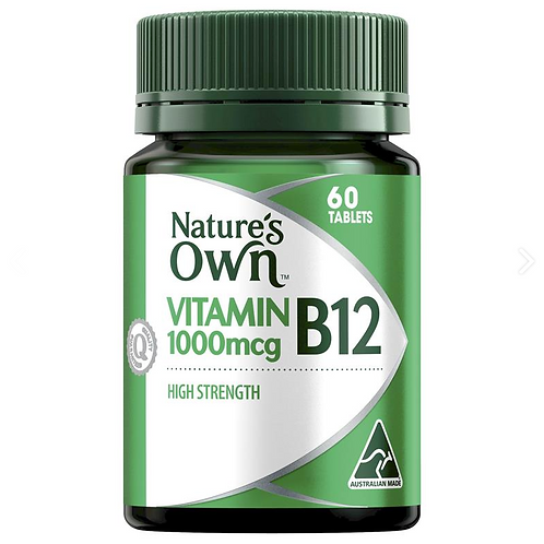 Nature's Own Vitamin B12 1000mcg| 60 Tablets