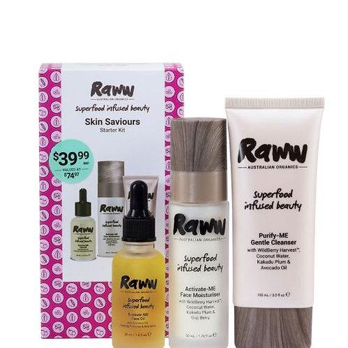 Raww Skin Saviours! Skincare Starter Kit