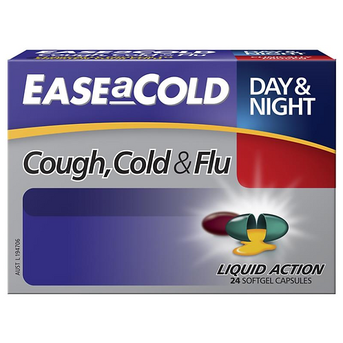Ease a Cold Cough Cold & Flu Day & Night| 24 Capsules