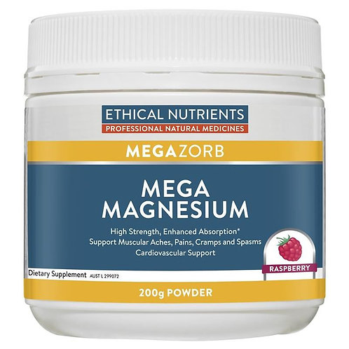Ethical Nutrients MEGAZORB Mega Magnesium Powder Raspberry